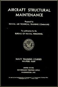 Aircraft Aircraft Structural Maintenance  NAVY Training Courses Manual  - 1951 NAVPERS 10329