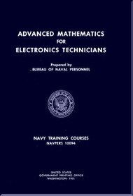 Aircraft Advanced Mathematics for Electronics Technicians Training Courses Manual  - 1951 - NAVPERS 10094