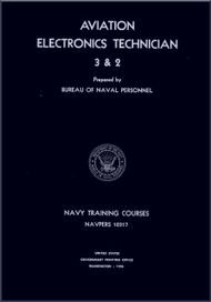 Aircraft Aviation Electronics Technician 3 & 2 NAVY Training Courses Manual  - 1956  - NAVPERS 10317