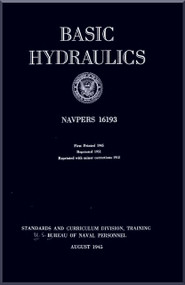 Aircraft Basic Hydraulics  NAVY Training Courses Manual  - 1952 -  NAVPERS 16193