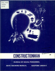 Aircraft Constructionman  NAVY Training Courses Manual  - 1971 - NAVPERS 10630-E