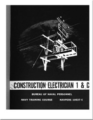 Construction Electrician 1 & C NAVY Training Courses Manual  - 1966 - NAVPERS 10637-C