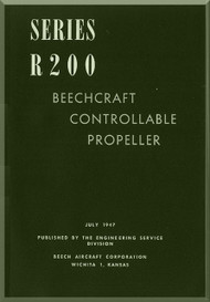 Beechcraft R 200 Propellers Instruction Manual - 1947