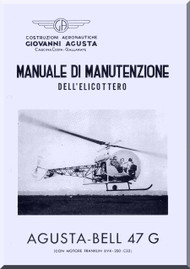 Agusta Bell Helicopter 47 G  Maintenance Manual  ( Italian Language  ) -  Manutenzione , 1955
