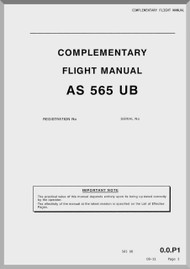Aerospatiale AS 565 UB Helicopter  Complementary Flight Manual  ( English Language )