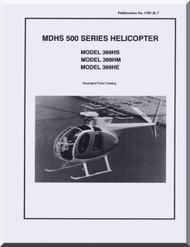 Mc Donnell Douglas  Helicopters  Model  369 HE HS HM Illustrated Parts Catalog Manual