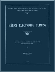 Curtiss Electrical Propeller Maintenance Manual 1943 - French