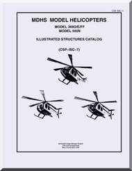 Hughes Mc Donnell Douglas  Helicopters 369 D, E, FF 500 N Illustrated Structures Catalog  Manual