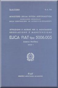 FIAT 5006.005 Aircraft Propeller Maintenance Manual - Elica - Montaggio