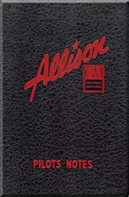 Allison V-1710  Aircraft Engine Pilot Notes Manual  ( English Language )