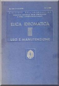 FIAT Aircraft Hydromantic Propeller Maintenance Manual - Elica - Montaggio