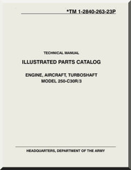 Allison 250 C30 R / 3 Aircraft Engine Parts Manual - 1-2840-263-23P