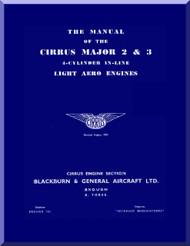 Cirrus Major 2 & 3 Aircraft Engine Service Manual  ( English Language )