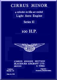 Cirrus Minor 100 h.p. Aircraft Engine Service Manual  ( English Language )