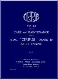 Cirrus A.D.C. Aircraft Engine Service Manual  ( English Language )
