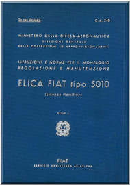 FIAT 5010 Aircraft Propeller Maintenance Manual - Elica - Montaggio