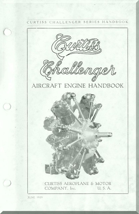 Curtiss R-600 Challenger Aircraft Engine Handbook Manual