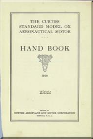 Curtiss Model OX   Aircraft Aero Engine Handbook Manual  ( English Language ) - 1928