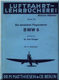 Bayerische Motorenwerke - BMW  Aircraft Engine Handbook Service Instruction Manual  ( German Language ) Luftfart- Lehrbucherei