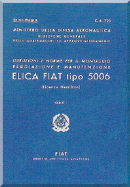 FIAT 5006 Aircraft Propeller Maintenance Manual - Elica - Montaggio
