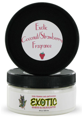 Exotic Hemp Body Butter Coconut Strawberry 8oz