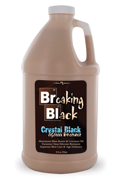 Breaking Black Crystal Black 656XXX Bronzer Tanning Lotion 64oz