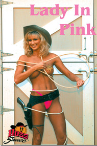 Lady In Pink Glossy Tanning Salon Wall Poster