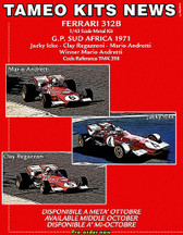 1:43 Kit.  Ferrari 312B South Africa GP 1971 Winner Andretti