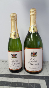 Personalized Birthday Champagne Labels