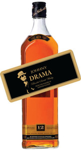 Personalized Whisky Gold Labels (Johnny Walker Drama)
