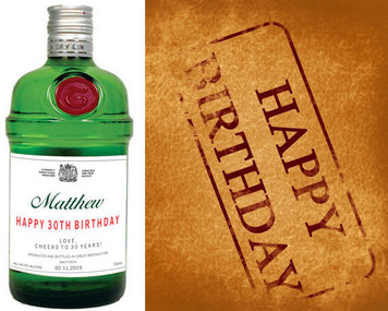 Personalized Gin Labels (Tanqueray Style)