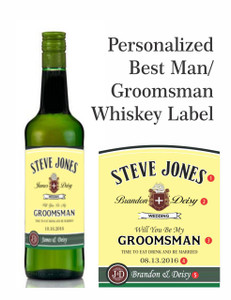 Personalized Whisky Gold Foil Labels (Jameson Style) 200 ml