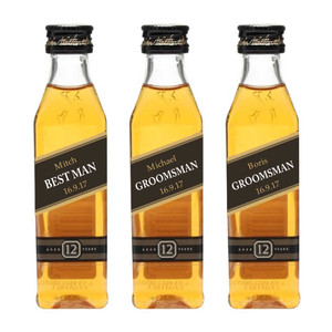 Personalized Mini 50 ml. Whisky Black Labels (Johnny Walker Style)