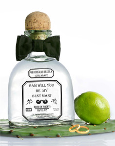 Personalized Groomsman Tequila Clear Labels (Patron Style)