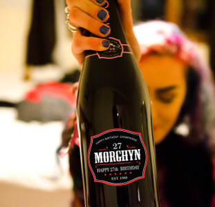 Personalized Birthday Champagne Labels (Belaire Style)
