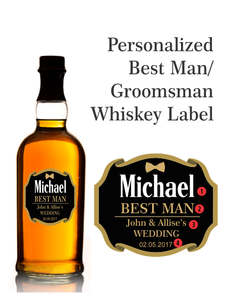 Personalized Whisky Gold Foil Labels (Glenfiddich Style)