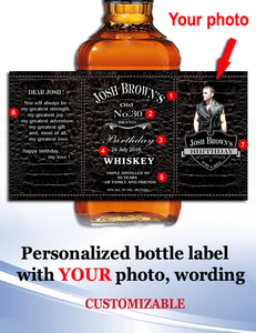 Personalized Whisky  Labels with Photo Style 2