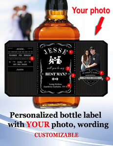 Personalized Whisky  Labels with Photo Style 3