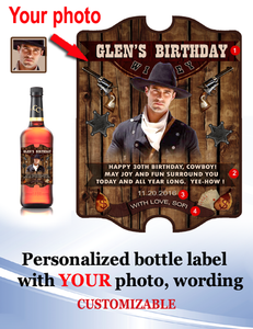 Personalized Whisky  Labels with Photo Style 6