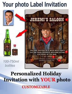 Personalized Beer  Labels with Photo Style 8