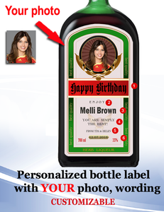 Personalized Liqueur Labels  with Photo (Jägermeister Style)