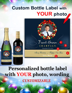 Personalized Christmas Champagne/Wine Labels