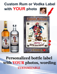 Personalized Rum/Vodka Labels