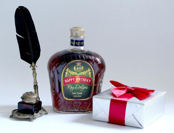 Personalized Crown Royal Birthday Labels