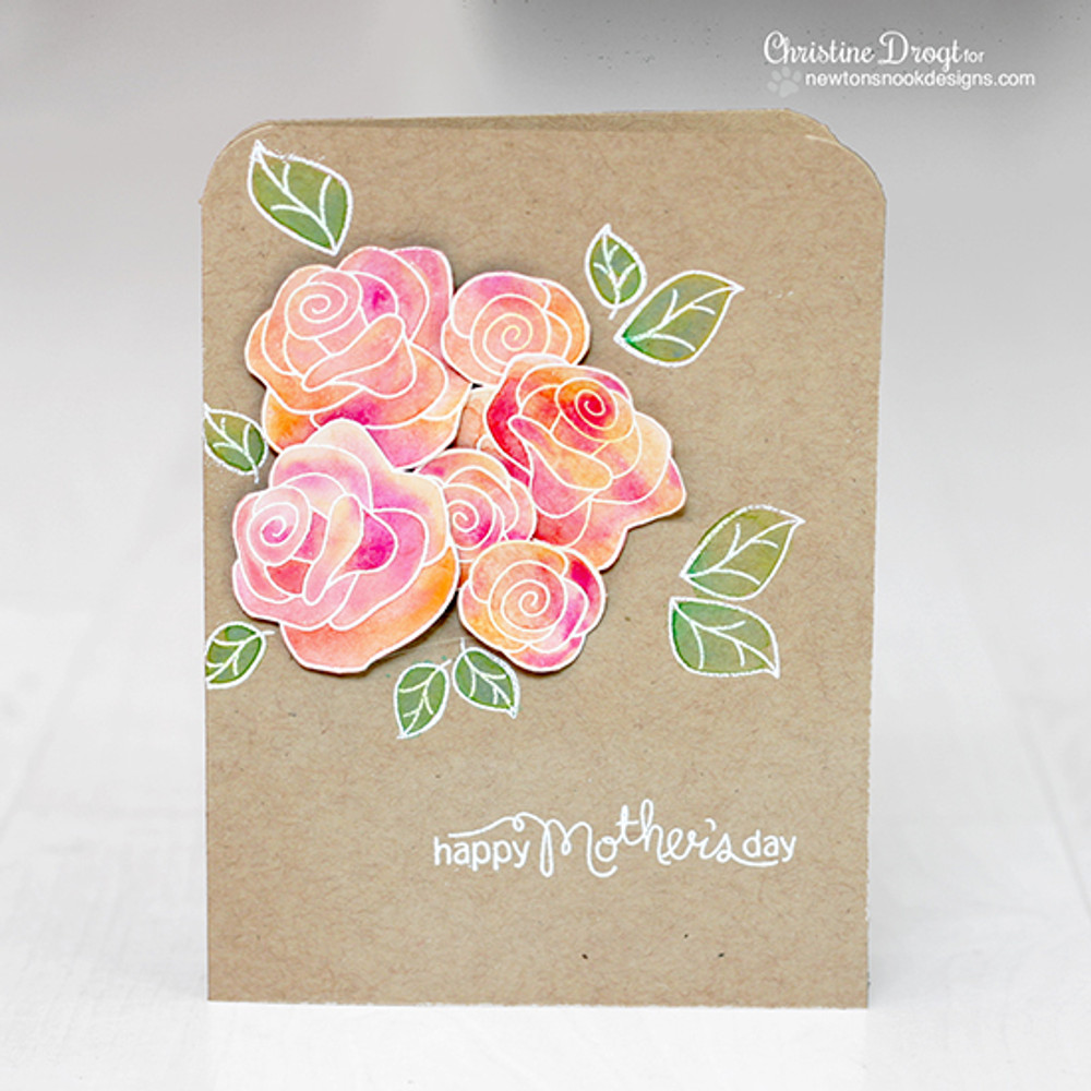 Mother's Day Rose Card  | Love Grows stamp set by Newton's Nook Designs.