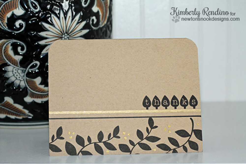 Thanks Card | Falling into Autumn | 4x6 photopolymer stamp set | Newton's Nook Designs