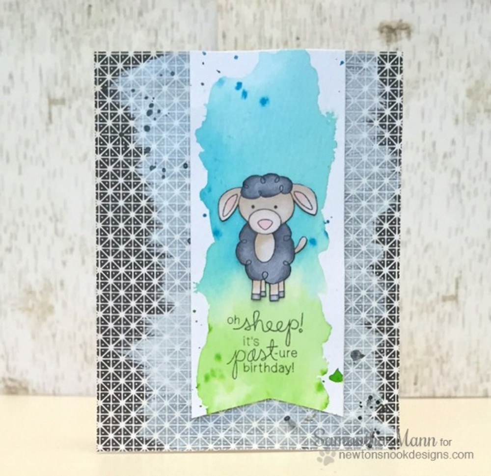 Belated Birthday Sheep Card | Farmyard Friends | 4x6 photopolymer Stamp Set | Newton's Nook Designs