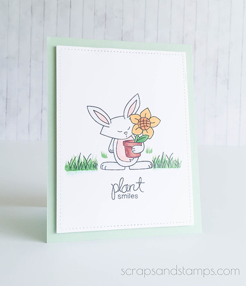 "Bunny ""Plant Smiles"" Card 