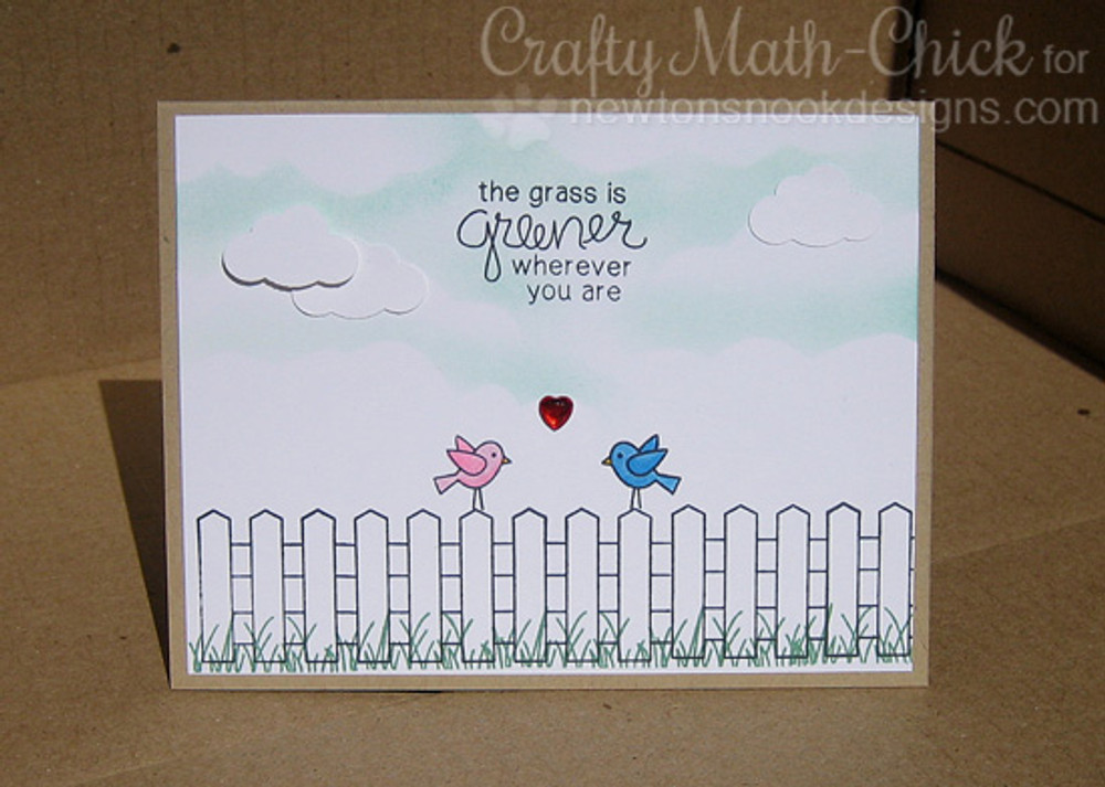 Birds Friendship Card | Garden Whimsy | 4x6 photopolymer Stamp Set | Newton's Nook Designs