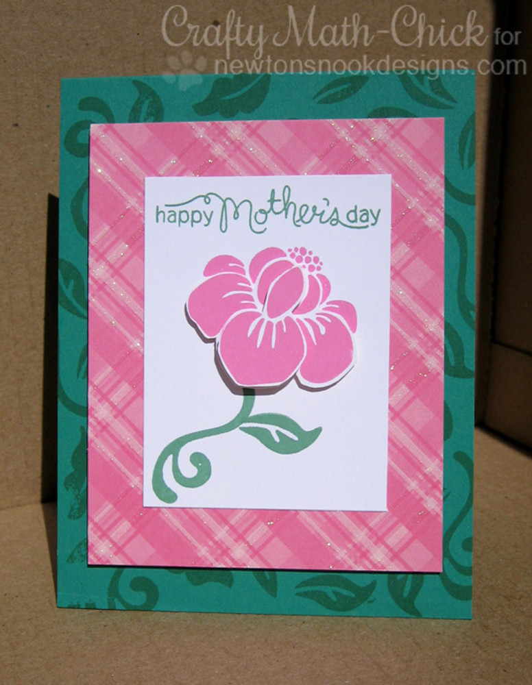 Mother's Day Flower Card | Fanciful Florals | 4x6 photopolymer Stamp Set | Newton's Nook Designs